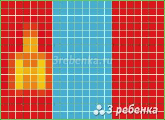 Схема фенечки прямым плетением Монголия