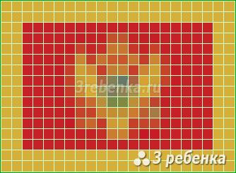 Схема фенечки прямым плетением Черногория