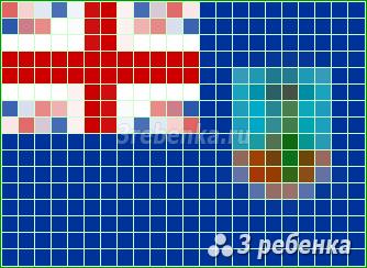 Схема фенечки прямым плетением Монтсеррат