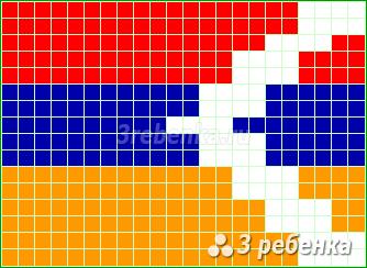 Схема фенечки прямым плетением Нагорный Карабах