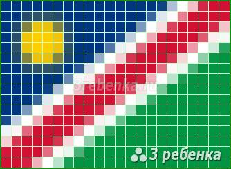 Схема фенечки прямым плетением Намибия