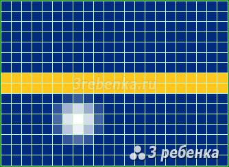 Схема фенечки прямым плетением Науру