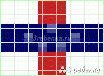Схема фенечки прямым плетением Нидерландские Антильские острова