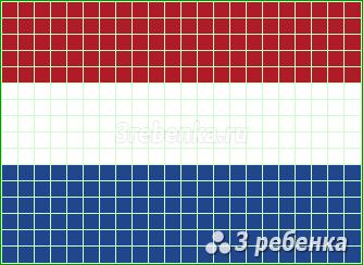 Схема фенечки прямым плетением Нидерланды