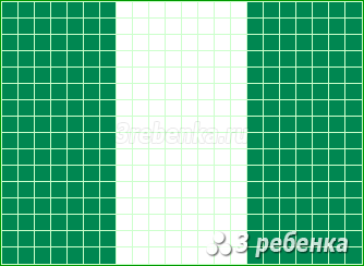 Схема фенечки прямым плетением Нигерия