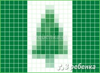 Схема фенечки прямым плетением Остров Норфолк