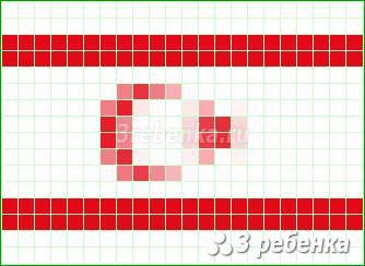 Схема фенечки прямым плетением Турецкая Республика Северного Кипра