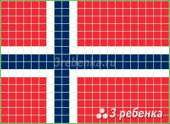 Схема фенечки прямым плетением Норвегия