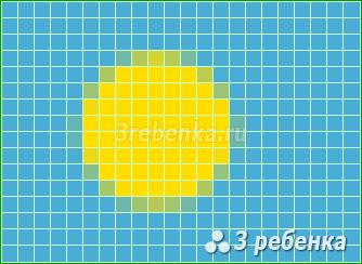 Схема фенечки прямым плетением Палау
