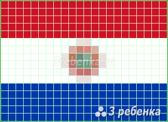 Схема фенечки прямым плетением Парагвай
