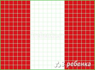Схема фенечки прямым плетением Перу