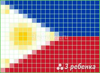 Схема фенечки прямым плетением Филиппины