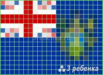 Схема фенечки прямым плетением Острова Питкэрн