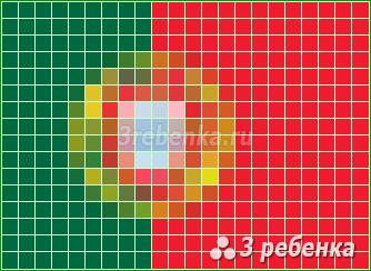 Схема фенечки прямым плетением Португалия