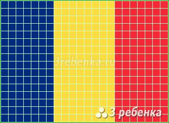 Схема фенечки прямым плетением Румыния