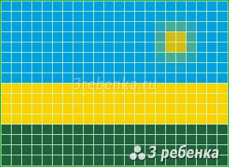 Схема фенечки прямым плетением Руанда