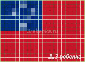 Схема фенечки прямым плетением Самоа
