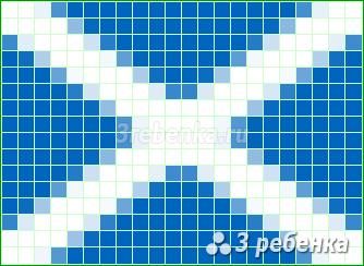 Схема фенечки прямым плетением Шотландия