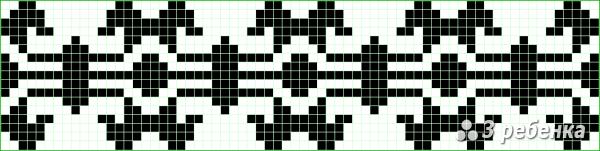 Схема фенечки прямым плетением 17352