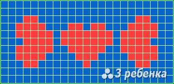 Схема фенечки прямым плетением 17223