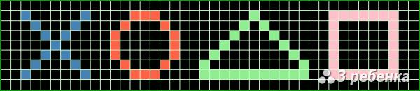 Схема фенечки прямым плетением 17522