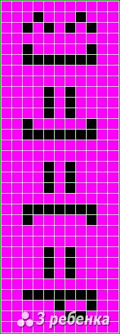 Схема фенечки прямым плетением 17376