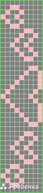 Схема фенечки прямым плетением 17517