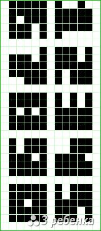 Схема фенечки прямым плетением 17061