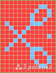 Схема фенечки прямым плетением 15017