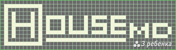 Схема фенечки прямым плетением 17239