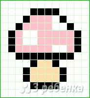 Схема фенечки прямым плетением 15067