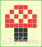 Схема фенечки прямым плетением 15034