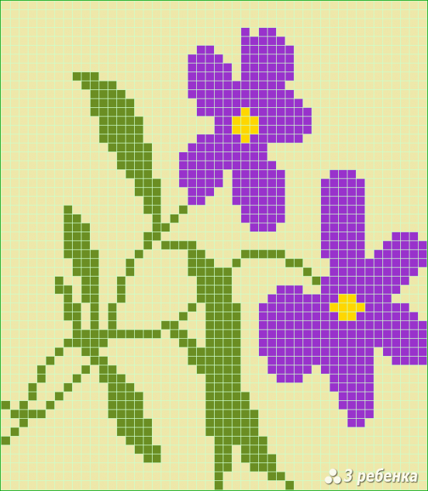 Схема фенечки прямым плетением 17196