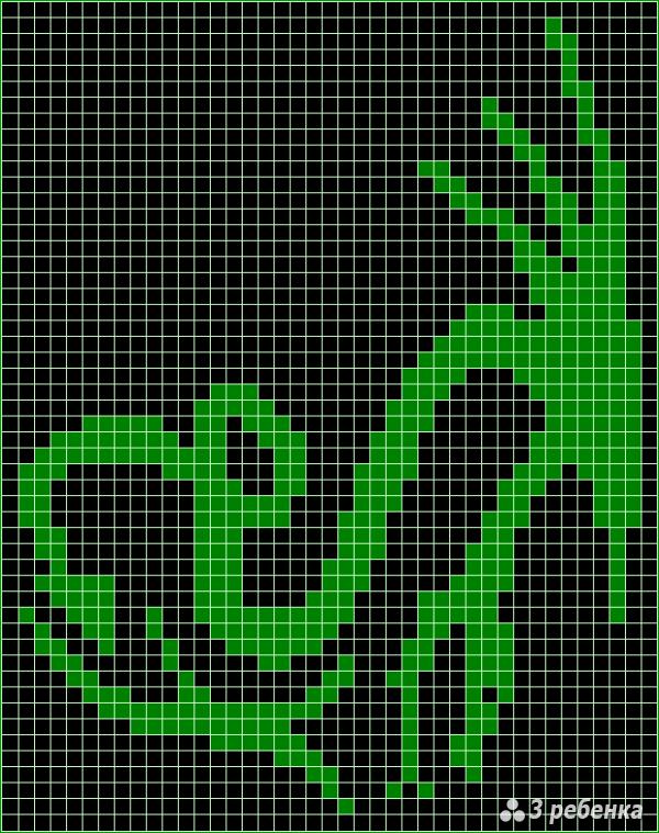 Схема фенечки прямым плетением 17211