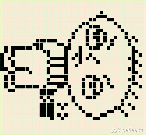 Схема фенечки прямым плетением 15039