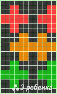 Схема фенечки прямым плетением 17046