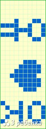 Схема фенечки прямым плетением 17206