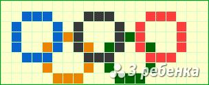 Схема фенечки прямым плетением 17051