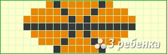 Схема фенечки прямым плетением 17056
