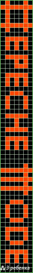 Схема фенечки прямым плетением 17357