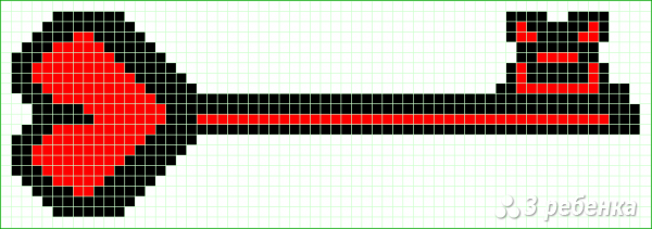 Схема фенечки прямым плетением 15062