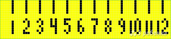 Схема фенечки прямым плетением 15022