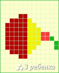Схема фенечки прямым плетением 17363