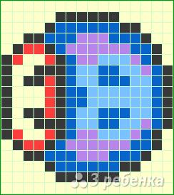 Схема фенечки прямым плетением 15077