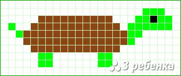 Схема фенечки прямым плетением 17511