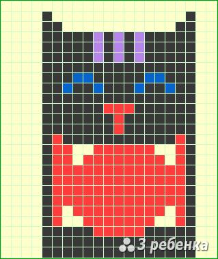 Схема фенечки прямым плетением 17331