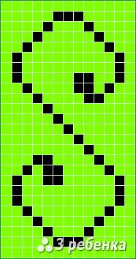 Схема фенечки прямым плетением 17234
