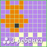Схема фенечки прямым плетением 17528