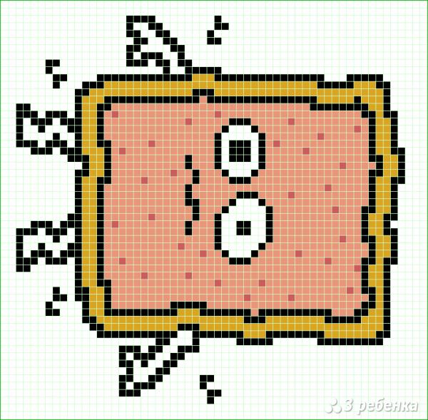 Схема фенечки прямым плетением 15049