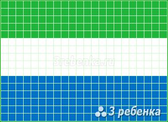 Схема фенечки прямым плетением Сьерра-Леоне